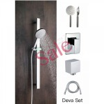 Shower Slide Combo Mains Pressure Deva Set