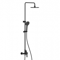 Shower Mixer Combination Round F16 - Black
