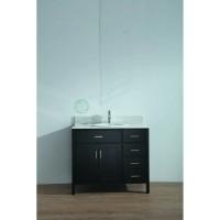 Vanity - Virtu Series 1000 Black Quartz Stone Counter Top Set