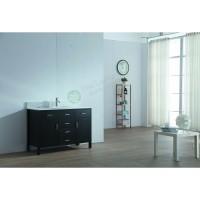 Vanity - Virtu Series 1200 Black Quartz Stone Counter Top Set