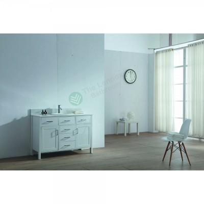 Vanity - Virtu Series 1200 White Quartz Stone Counter Top Set