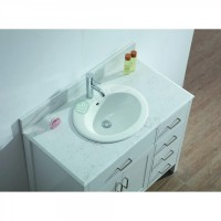 Vanity - Virtu Series 900 White Quartz Stone Counter Top Set