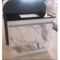 Vanity - Etham Series 1200mm - White Marble Pattern With Engineering Stone Top