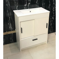 Vanity - Dekkor Series Plywood L700 Gloss White (Slim Top)  - 100% Water Proof