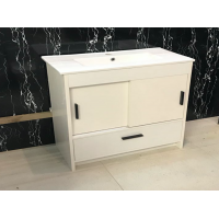 Vanity - Dekkor Series Plywood L900 Gloss White (Slim Basin) - 100% Water Proof