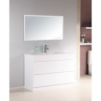 Vanity - Heron Series N1200F White Single Basin