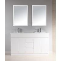 Vanity - Heron Series Plywood N1500F White Double Basin 100% Water Proof
