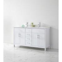 Vanity - Misty Series 1500F White Double Ceramic Basin
