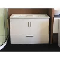 Vanity - Dekkor Series Plywood L1200 Grain Wood White - 100% Water Proof - Double Basin