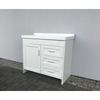 Vanity - Lily Series 900mm Aluminum Cabinet Floral White 100% Water Proof