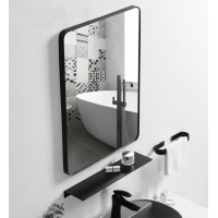 Bathroom Mirror for Wall with Black ABS Frame 400X600mm