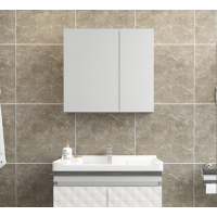 Bathroom Mirror Cabinet 650x130x600 mm - White
