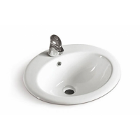 Ceramic Inset Vanity Counter Top Basin Sink 500mm