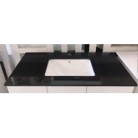 Engineered Quartz Vanity Top - Sparkling  Black 900mm