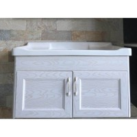 Vanity - Lily Series 800mm Aluminum Cabinet Floral White 100% Water Proof