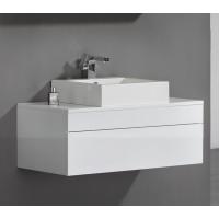 Vanity - Poli Series 1200 White Quartz Stone Counter Top Set