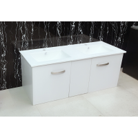 Vanity - Misty Series Plywood T1200 White - Double Basin - 100% Water Proof