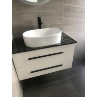 Vanity - Misty Series 900 Black Quartz Stone Counter Top Set