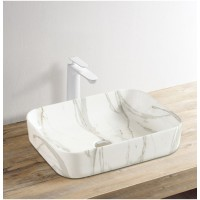 Counter Top Ceramic Basin 209 - Marble Pattern