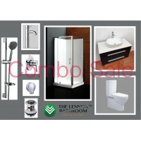 Bathroom Combo With 1000mm Wall Hung Vanity - Counter Top  Basin
