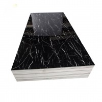 PVC UV Marble Stone Board - Net Black Color