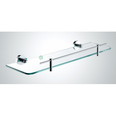 Glass Shelf - Round Wall Hung Series With Chrome Rail 2200-08