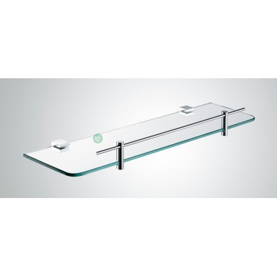Glass shelf - Square Wall Hung Series With Chrome Rail 2100-08