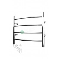 Heated Towel Rail Round 4 Bar ETW29 Right