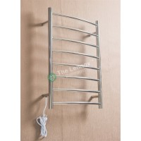 Heated Towel Rail Round 8 Bar ETW1B Left