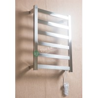 Heated Towel Rail Square 6 Bar Thick ETW13 Right