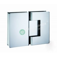 Shower Door Hinges, 180 Degree, Glass to Glass