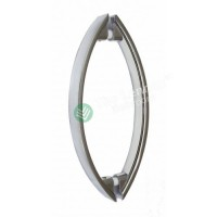 Shower glass door handle - 145mm Oval tube