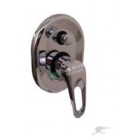 Bath Mixer With Diverter Round L005E