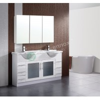Vanity - Catania Series 1500 White Double Basin Display Special!!