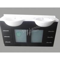 Vanity - Catania Series 1500 Black Double Basin - Display Special!1
