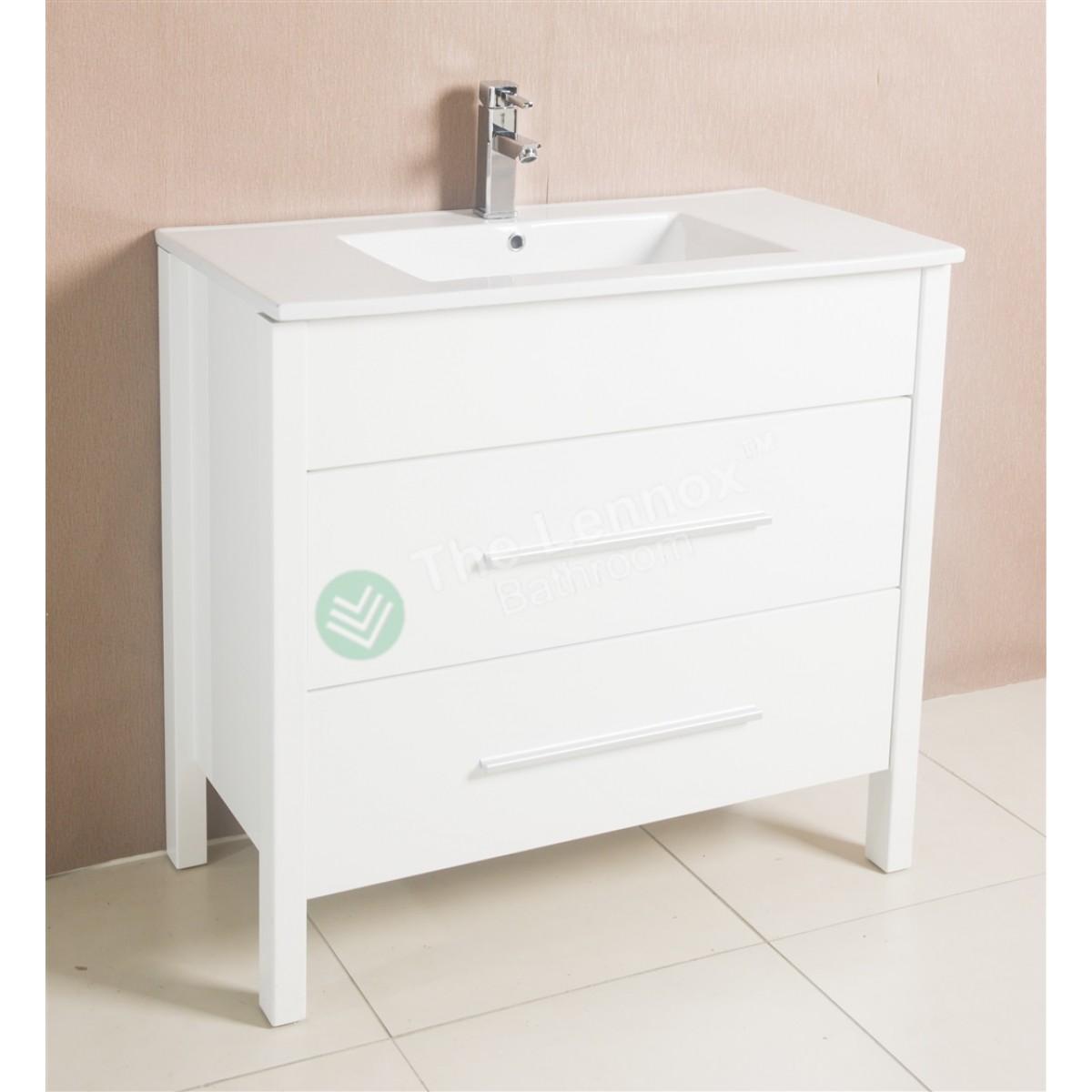 Vanity ava 800 white for Ava bathroom furniture