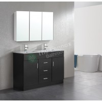 Vanity - Misty Series 1200F Black Double