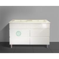 Vanity - Heron Series N1200F White Double Basin