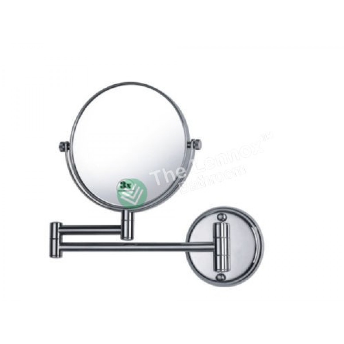 Bathroom shave makeup mirror double side wall mounted for Wall mounted makeup mirror