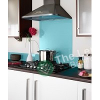 Glass Splash Back 600*600mm Sky Blue