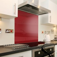 Glass Splash Back 600*600mm Red
