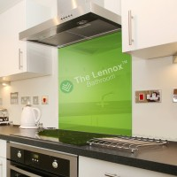 Glass Splash Back 600*600mm Green