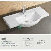 Ceramic Cabinet Basin - Round Series 900
