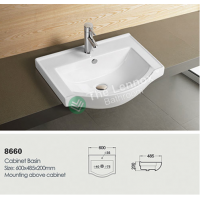 Ceramic Cabinet Basin - Round Series 600