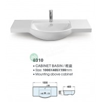 Ceramic Cabinet Basin - Round Series 1000
