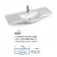 Ceramic Cabinet Basin - Round Series 1200