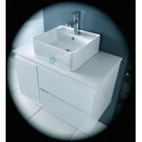 Vanity - Asron Series 1000 White Quartz Stone Counter Top Set