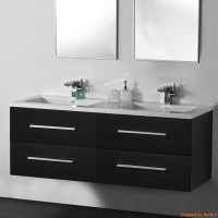 Vanity - Misty Series 1200 Black Double Basin