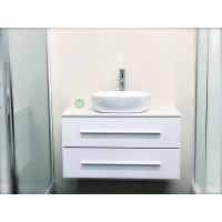 Vanity - Misty Series 900 White Quartz Stone Counter Top Set