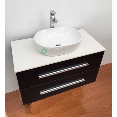 Vanity - Misty Series 900 White Quartz Stone Counter Top Set